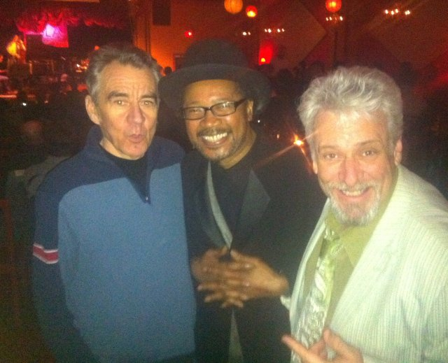 Ron Gaskin with Jaymz Bee and Clifton Joseph. Photo courtesy of Jaymz Bee
